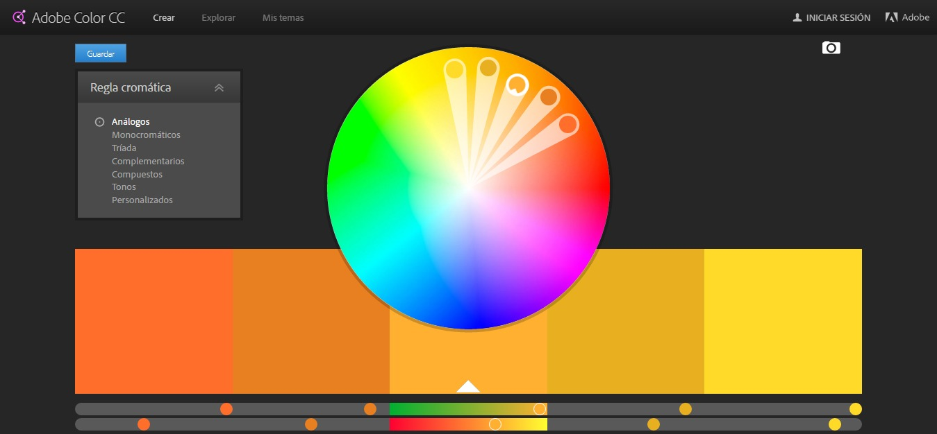 paleta de colores analogicos