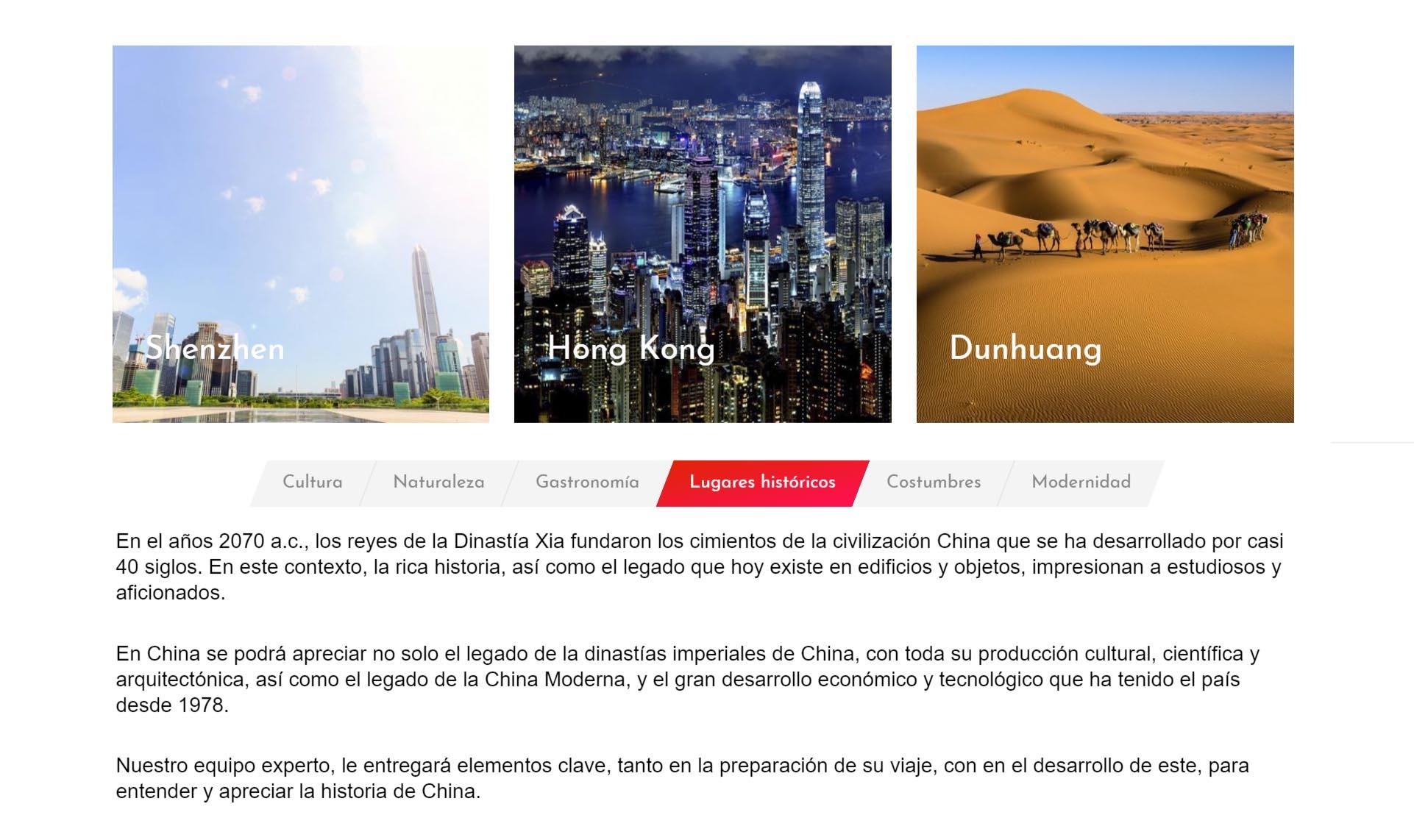 pagina web turistica